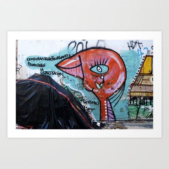 Censuran el arte urbano Art Print