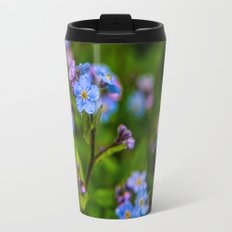 Forget-me-nots In The Rain Travel Mug