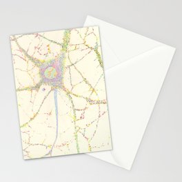 Neuron, brain cell. Stationery Cards