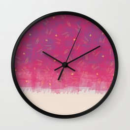 Abstract Beach Drapes Design Wall Clock