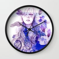 nausicaa Wall Clocks featuring Nausicaa by Sarah Bochaton