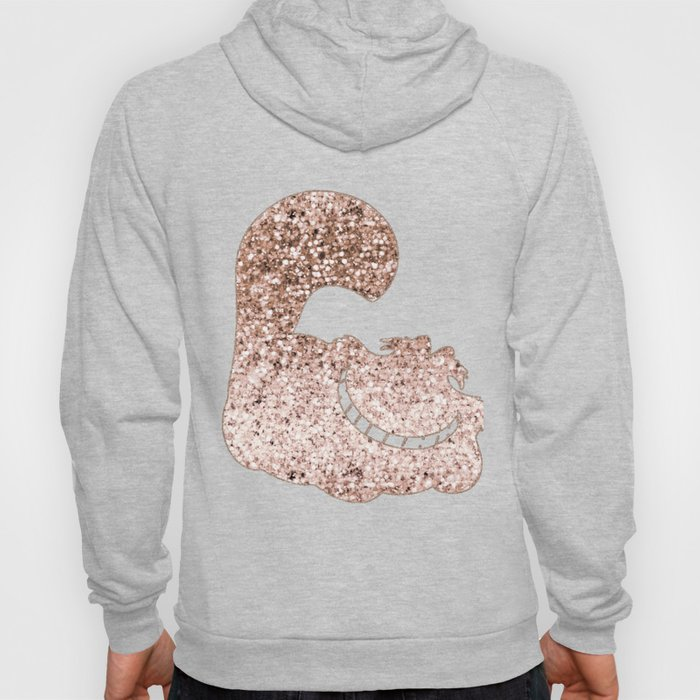Sparkling rose gold Cheshire Cat Hoody
