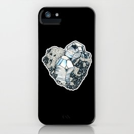 Hematite Crystal Cluster iPhone Case