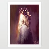 thranduil Art Prints featuring Thranduil by Angela Taratuta