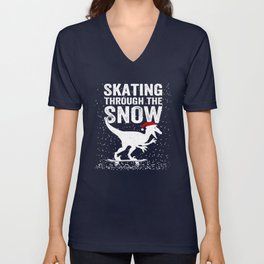 Skating through the snow Unisex V-Neck