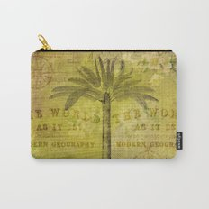 Vintage Journey palmtree typography travel collage Carry-All Pouch