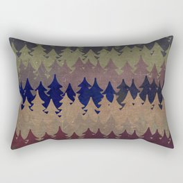The secret forest at late afternoon- Dark tree pattern #Society6 Rectangular Pillow