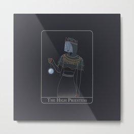 The High Priestess - Illustration 2020 Metal Print