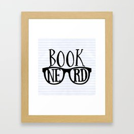 Book Nerd (lined paper) Framed Art Print