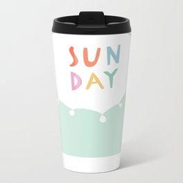 Sunday in Mint Metal Travel Mug