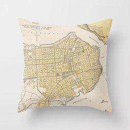Vintage Map of Havana Cuba (1905) Throw Pillow