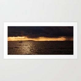 storm clouds looming Art Print