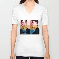 frank sinatra V-neck T-shirts featuring Classic Frank Sinatra  by Brandon Minieri