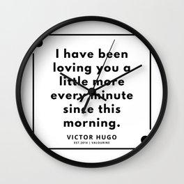 37    Victor Hugo Quotes   190830 Wall Clock