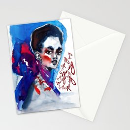 Spring time #fashionillustration Stationery Cards