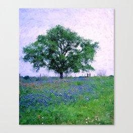 Bluebonnet Tree Canvas Print