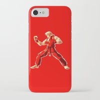 street fighter iPhone & iPod Cases featuring Street Fighter II - Ken by Carlo Spaziani