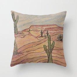 Saguaros in Arizona Throw Pillow