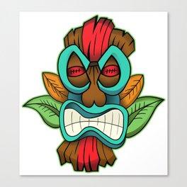 Tiki Mask Illustration Canvas Print