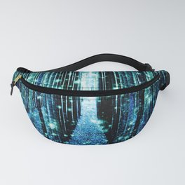 Magical Forest Teal Turquoise Fanny Pack