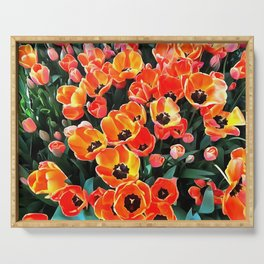 Bright Red Tulips of Istanbul Serving Tray
