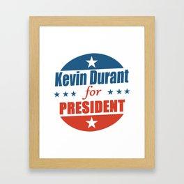 Kevin Durant For President Framed Art Print