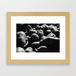 Potatoes Are From Peru b&w Framed Art Print