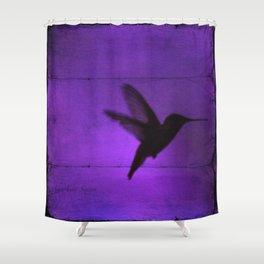 Razzleberry Hummingbird by CheyAnne Sexton Shower Curtain