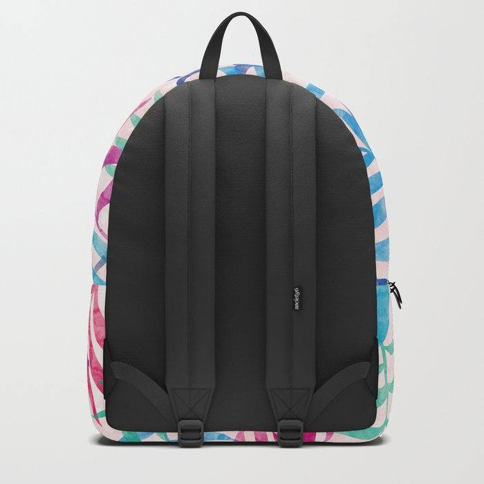Watercolor Tropical Palm Leaves Backpack