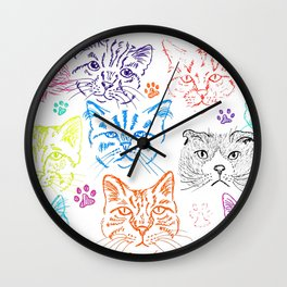 Cats heads Wall Clock