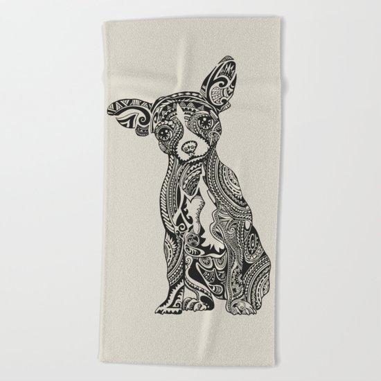 Polynesian Chihuahua Beach Towel