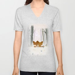 Winter Fox Unisex V-Neck