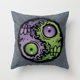 Zombie Yin-Yang Throw Pillow