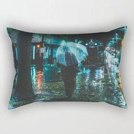 Walking Down Street - Memphis Photo Print Rectangular Pillow