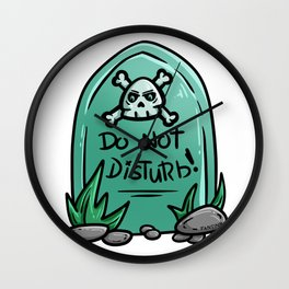 do not disturb cemetery grave stone Halloween Gift Wall Clock