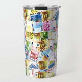 Colorful Euros Pattern - Money - LOA - Abundance - Cash Travel Mug
