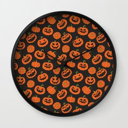 Jack O Lanterns // Halloween Collection Wall Clock