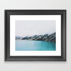 Turquoise water Framed Art Print