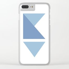 Origami Indigo Triangles Clear iPhone Case