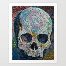 Pointillism Skull Art Print