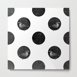 Polkadot Perch Metal Print