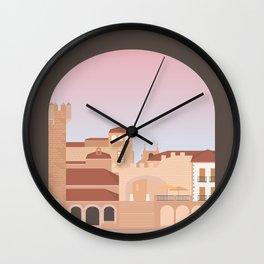 Plaza Mayor, Caceres, Spain Wall Clock