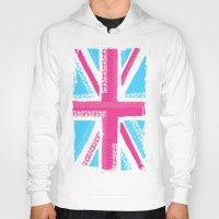 union jack Hoodies featuring Union Jack Fashion by Berberism