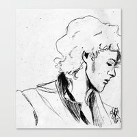 enjolras Canvas Prints featuring Enjolras by Pruoviare