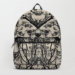 Black Flora No 1 Backpack