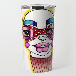 JennyMannoArt Colored Illustration/Sheila Travel Mug