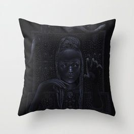 DARK TEMPLE - Du noir naît la lumière Throw Pillow