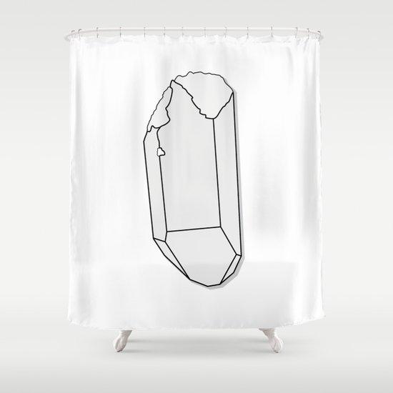 Clear Quartz Shower Curtain