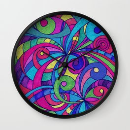 Drawing Floral Doodle G1 Wall Clock