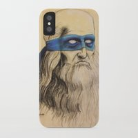tmnt iPhone & iPod Cases featuring Leo TMNT by Rachel M. Loose